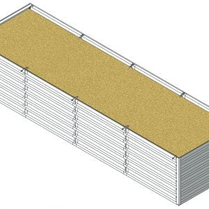 Defense Wall, a Security Product by Mifram: ~5 m. Length x ~1.44 m. Width x ~1 m. Height