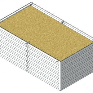 Defense Wall, a Security Product by Mifram: ~2.5 m. Length x ~1.44 m. Width x ~1 m. Height
