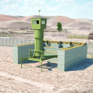 Defense Wall, a Security Product by Mifram: Universal fighting and protective post in the field Can be erected or dismantled in a matter of hours Cat