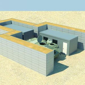 Defense Wall, a Security Product by Mifram: Front line bases and mobile command post protection