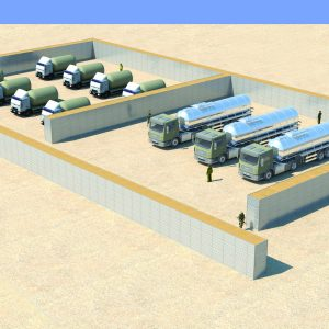Defense Wall, a Security Product by Mifram: Protection for fuel, water, ammunition storage and other facilities
