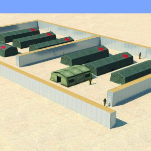 Defense Wall, a Security Product by Mifram: Protection for divisional bases and field hospitals