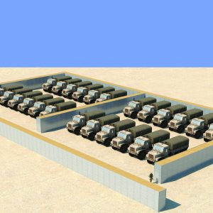 Defense Wall, a Security Product by Mifram: Protection for armored assault and other vehicles including munitions trucks