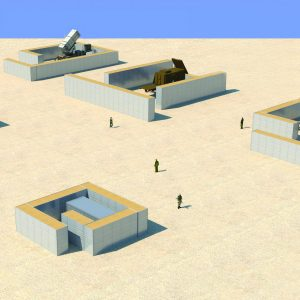 Defense Wall, a Security Product by Mifram: Protection for missile batteries and launchers, gun emplacements and ammunition