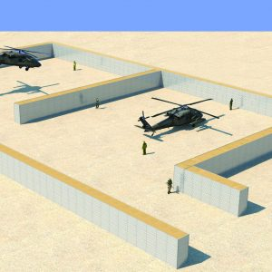 Defense Wall, a Security Product by Mifram: Protection for helicopters and landing pads
