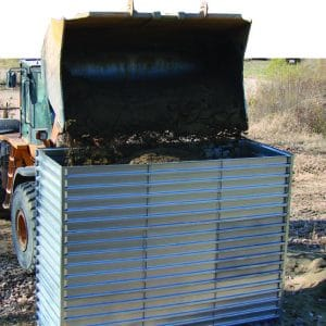 Defense Wall, a Security Product by Mifram: Construction using a tractor