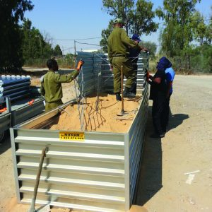 Defense Wall, a Security Product by Mifram: Construction requires no skilled labor