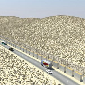 Defense Wall, a Security Product by Mifram: Concealing and protecting infrastructure and high risk highways