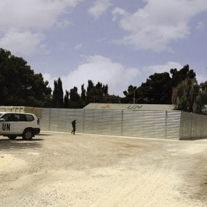 Defense Wall, a Security Product by Mifram: Protective wall around a United Nations clinic and command post