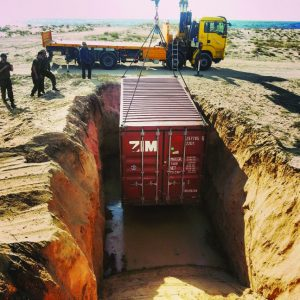 Fortified Container, a Security Product by Mifram: Burying a fortified container