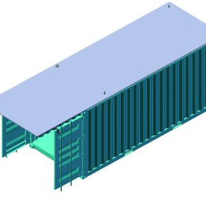Fortified Container, a Security Product by Mifram: The containers roof is armored with a 2.4 m. x 8 m. steel plate. Provides protection against 120 mm. mortar (and higher as required).