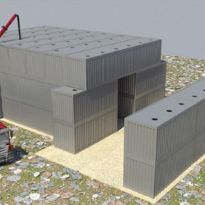 Hammer, a Security Product by Mifram: Filling roof sections with layers of sand or concrete via a pump