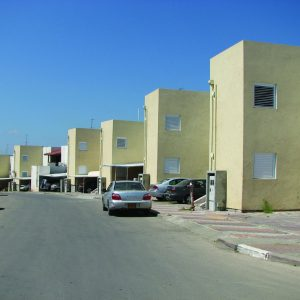 HBS, a Security Product by Mifram: The construction of hundreds of two story fortified rooms in the Afridat neighborhood of Sderot