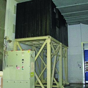 IMPS, a Security Product by Mifram: Fortified room, external view in a factory