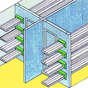 Infrastructure Protection, a Security Product by Mifram: Partition in cable duct with crossed barrier