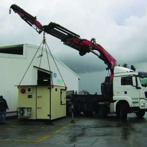 MBS, a Security Product by Mifram: Easy, simple unloading with a crane truck