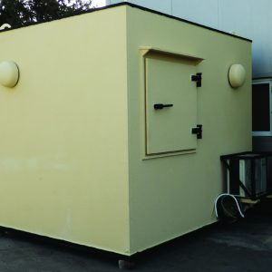 MBS, a Security Product by Mifram: Mobile Ballistic Shelter connected to Industrial Complex