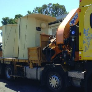 MBS, a Security Product by Mifram: Fast and easy transportation using a crane truck