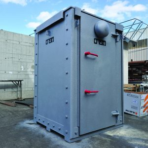 MBS, a Security Product by Mifram: 10 people mobile steel shelter