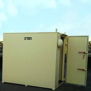 MBS, a Security Product by Mifram: 16 people mobile steel shelter