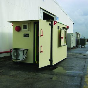 MBS, a Security Product by Mifram: 50 people mobile steel shelter