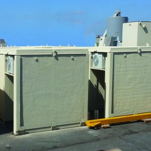 MBS, a Security Product by Mifram: 56 people mobile steel multi-layers shelter