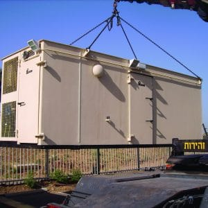 MBS, a Security Product by Mifram: 78 people mobile steel shelter
