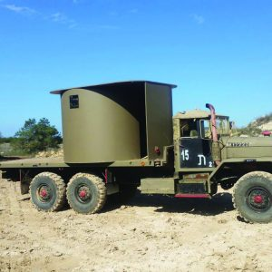 Merav, a Security Product by Mifram: Transported using a military truck