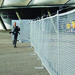 MFS, a Security Product by Mifram: Modular fence completely setup at a stadium
