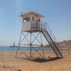 Priest guard tower in Eilat, Israel.