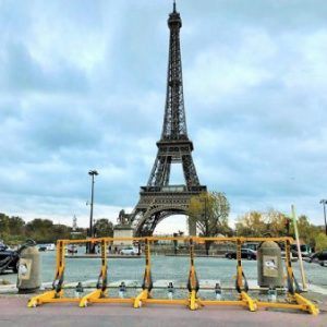 The MVB Vehicle barrier near the eiffel tower
