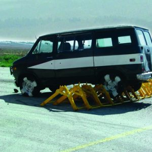 MVB, a Security Product by Mifram: Testing the system's stopping capabilities, on Asphalt, at 75 km/h: A5