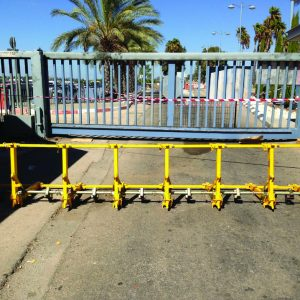 MVB, a Security Product by Mifram: Can be used as a temporary barrier if a permanent barrier is inoperable.