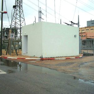 OBS, a Security Product by Mifram: Installation of a concrete bomb shelter at an Israel Electric Corporation power