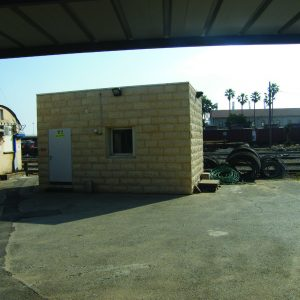 OBS, a Security Product by Mifram: Construction of stone clad, mobile and fixed shelters for Israel Rail