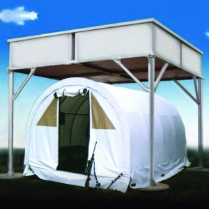 Sky Guard, a Security Product by Mifram: Mobile Sky Guard over a tent.