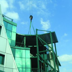Sky Guard, a Security Product by Mifram: Architectural sky guard retrofit on existing building
