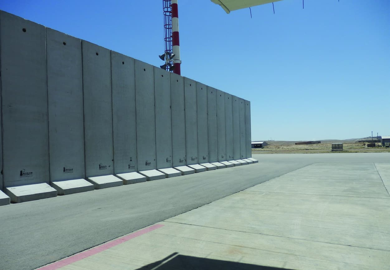 Concrete Security Walls : Concrete t walls mifram security