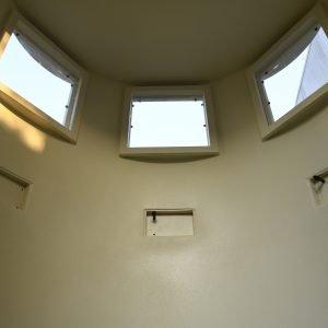 bulletproof security booth interior