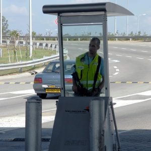 Body Guard, a Security Product by Mifram: Deployed at the entrance to Ben Gurion international airport