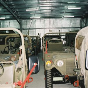 Dry Storage, a Security Product by Mifram: Military vehicles storage