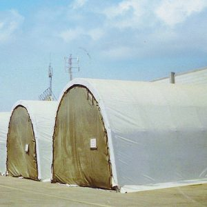 Dry Storage, a Security Product by Mifram: Hemispherical, soft shell dry storage structure