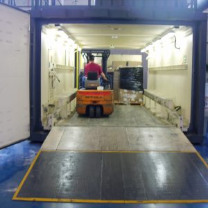 Vaccum Chamber, a Security Product by Mifram: Loading cargo for inspection