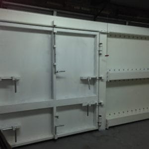 Extra heavy duty gates to prevent vehicle ramming and theft at a drug warehouse