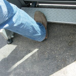 Protection window release pedal