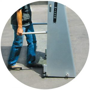 Body Guard Pro, a Security Product by Mifram: Transportation handles for quick and easy relocation to meet changing security needs
