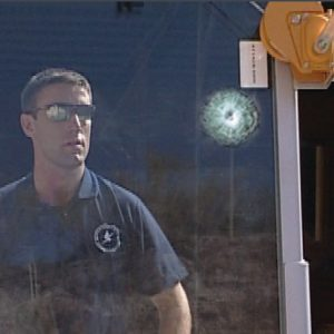 Body Guard Pro, a Security Product by Mifram: Bullet proof window after test firing