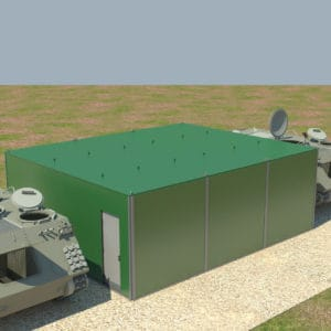 Fortified Front Line Posts, a Security Product by Mifram: A three container system
