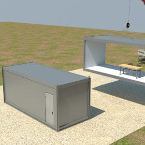 Fortified Front Line Posts, a Security Product by Mifram: Containers without internal walls – create a large space