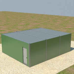 Fortified Front Line Posts, a Security Product by Mifram: Four completed containers deployed